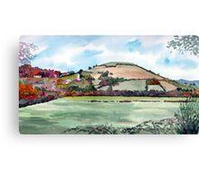 """Autumn Knoll"" - Brent Knoll, Somerset Canvas Print"