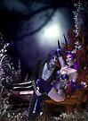 Purple moonlight Halloween by Fiery-Fire