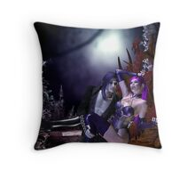 Purple moonlight Halloween Throw Pillow