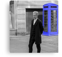 Doctor Who Mad Man In a Blue Box Canvas Print