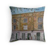 """Brunswick Terrace"" - Burnham-on-Sea, Somerset Throw Pillow"