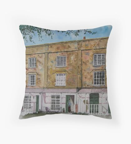 """Brunswick Terrace"" - Burnham-on-Sea, Somerset Throw Pillow"
