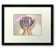 Hope for a cure Framed Print