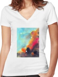 """""""Division"""" Women's Fitted V-Neck T-Shirt"""