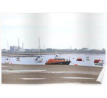 RNLI lifeboat at anchor Poster