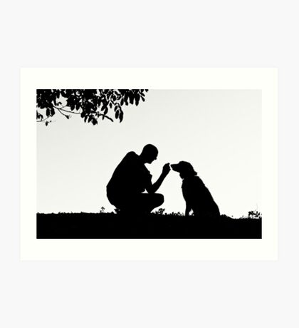 The man and his dog Art Print