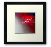 Red and Waves Framed Print