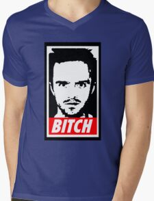 Breaking Bad Jessie Pinkman Obey Bitch Mens V-Neck T-Shirt