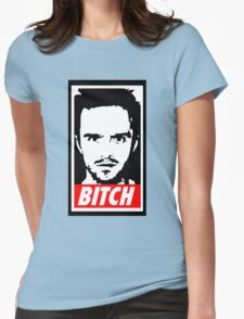 Breaking Bad Jessie Pinkman Obey Bitch Womens Fitted T-Shirt