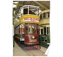 Restored Tram in garage Poster