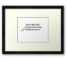 Grammar Police Framed Print
