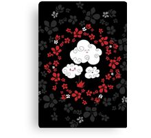 Cute clouds Canvas Print