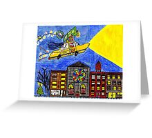 Flying Taxi Greeting Card