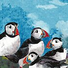 Puffins ~ iPhone Cover by ©The Creative  Minds