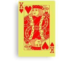 KING OF HEARTS-RED Canvas Print