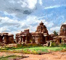 A Group of 8th century Monuments at Pattadakal, India  by Dennis Melling