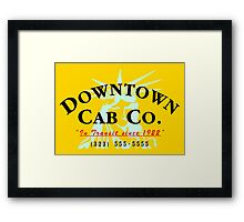 Downtown Cab Company Liberty Framed Print