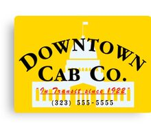 Downtown Cab Company Capitol Canvas Print