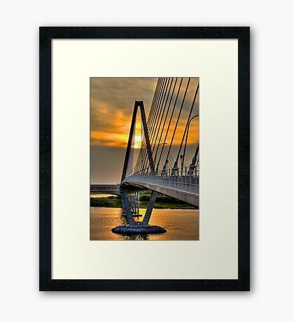Diamond Sunset Framed Print