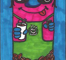Doodle Barista by lequarius