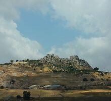 Castle Ruins. Central Sicily. 2011 by Igor Pozdnyakov