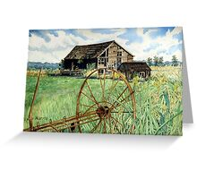 Barn & Wagon Wheel Greeting Card