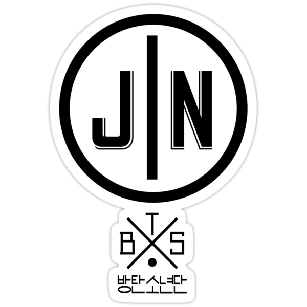 Quot Jin Bts Member Logo Series Black Quot Stickers By