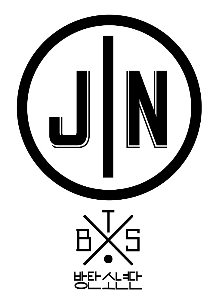 Quot Jin Bts Member Logo Series Black Quot By Dandimator