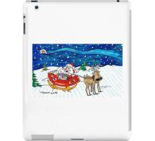 Sleigh Ride with Santa iPad Case/Skin