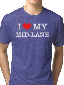 I Love My MID-LANE  [Black] Tri-blend T-Shirt