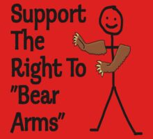 "Support The Right to ""Bear Arms"" Kids Tee"