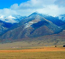 Sangre de Cristo Mountains in Fall colors by Merja Waters