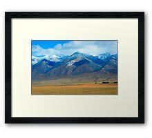 Sangre de Cristo Mountains in Fall colors Framed Print
