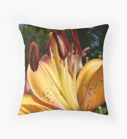 Lily Flower art prints Orange Floral Lilies Throw Pillow