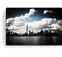 Toronto Skyline Blue Canvas Print