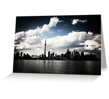 Toronto Skyline Blue Greeting Card