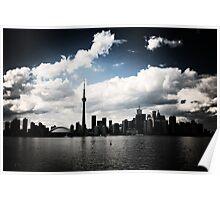 Toronto Skyline Blue Poster