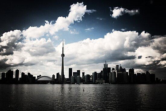 Toronto Skyline Blue by Rob Smith