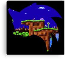 Sonic Green Hill Canvas Print