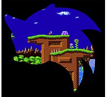 Sonic Green Hill Photographic Print