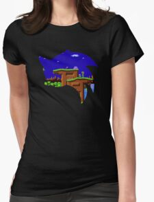 Sonic Green Hill Womens Fitted T-Shirt