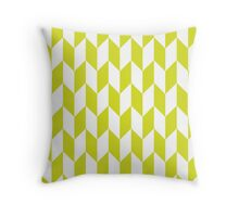 Chartreuse Thick Offset Chevrons Throw Pillow
