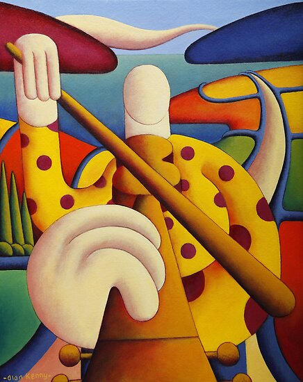 Polka fiddle player in softscape by Alan Kenny