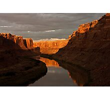 Afternoon Reflection, Labyrinth Canyon Photographic Print