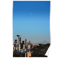 Space Needle's Moon Poster