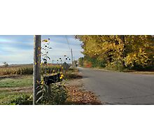 Autumn - Country Road Photographic Print