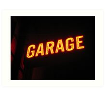 Neon Garage Art Print