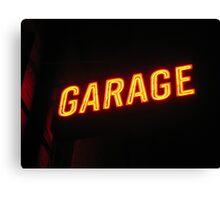 Neon Garage Canvas Print