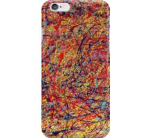 Abstract Jackson Pollock Painting Original Art Titled: Dynamic iPhone Case/Skin