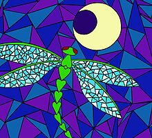Dragonfly Moon (iPhone) by Rhonda Blais